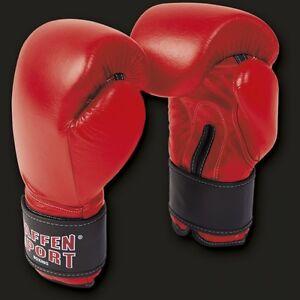 Paffen-Sport-Kibo-Fight-Boxhandschuhe-Training-Sparring-Leder-10-16oz-rot