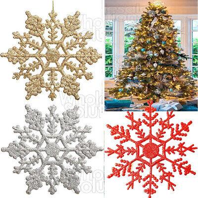 Handmade Wooden Personalised Bauble Xmas Tree Dec Blue Snowflake