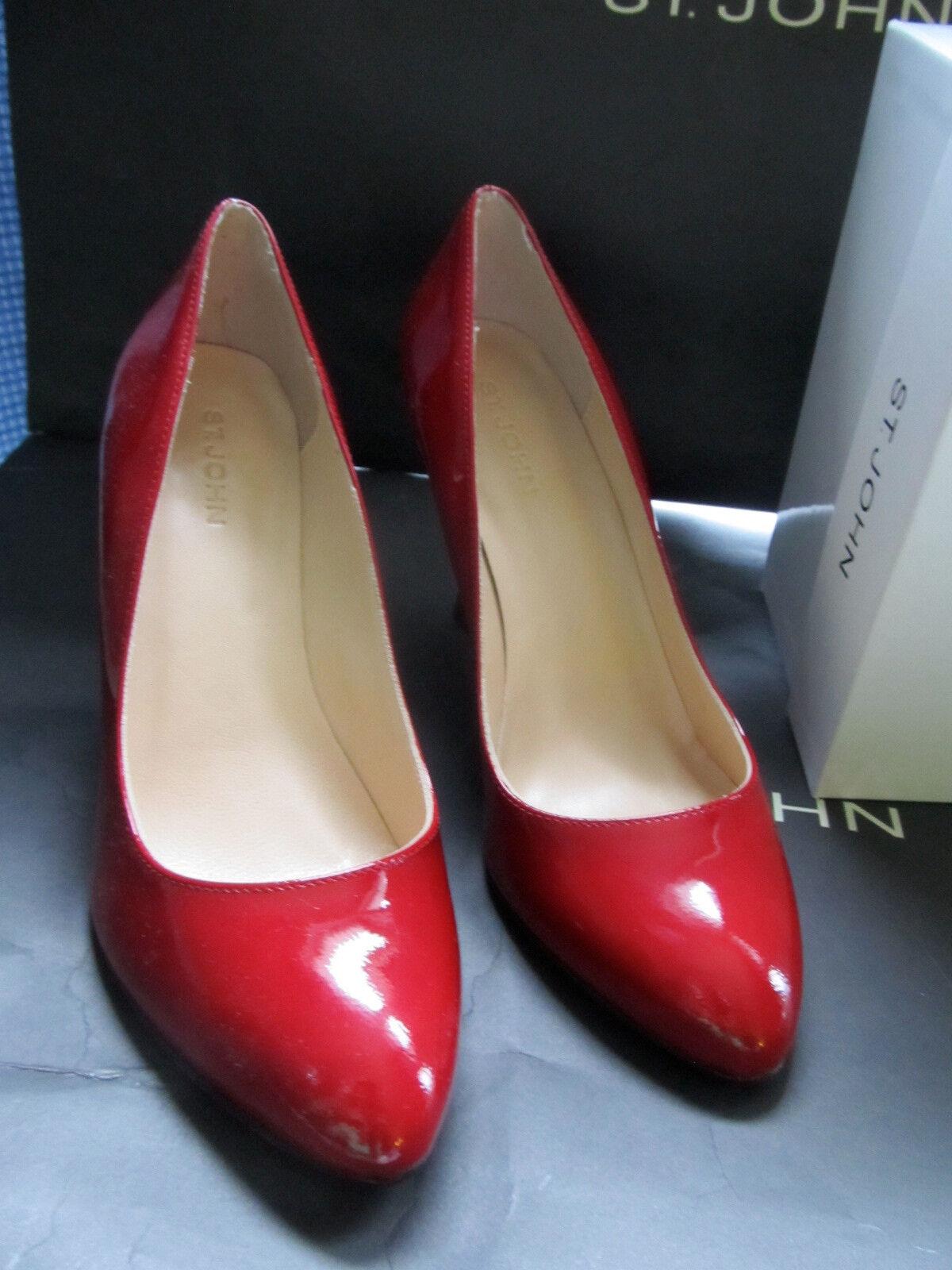 NEW ST JOHN KNIT SIZE 6 M PATENT Damenschuhe Schuhe ROT PATENT M LEATHER HEELS 3.5