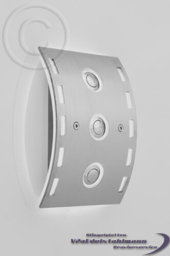 LED-BLANC 3 fois sonnette 3 reihig sonnerie plaque sonnerie acier inoxydable sonnette Bouclier