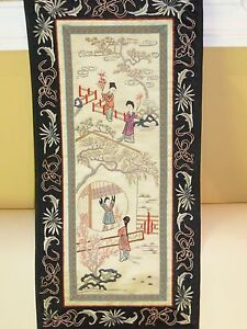 Silk Chinese Embroidery Wall Hanging Stunning Ebay