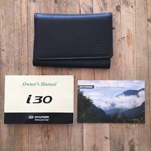 07-12 Hyundai I30/i30 Cw Owners Handbook Pack Et Portefeuille Imprimé 2007 Ref2-afficher Le Titre D'origine Construction Robuste