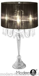 Crystal droplet table lamp