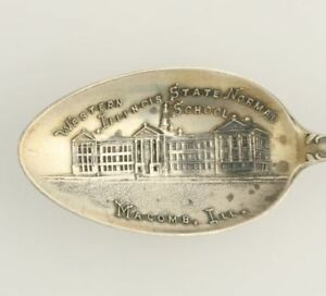 Illinois-State-Normal-School-Souvenir-Spoon-Sterling-Silver-Vintage-Collectors