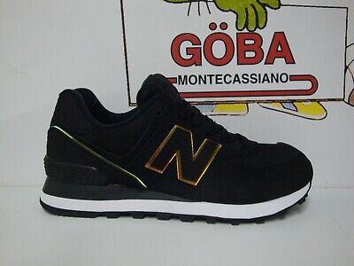 Lifestyle Shoe NEW Balance WL 574 Woman-New Balance WL 574 CLG Nubuck Black   eBay