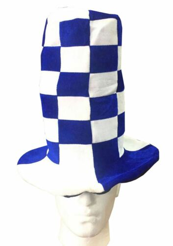 Unisex Wacky Tall Blue White and Red White Hat Adults Fancy Dress Party Costume