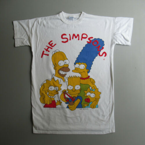 The Simpsons Vintage 1990 Long Sleep T Shirt night