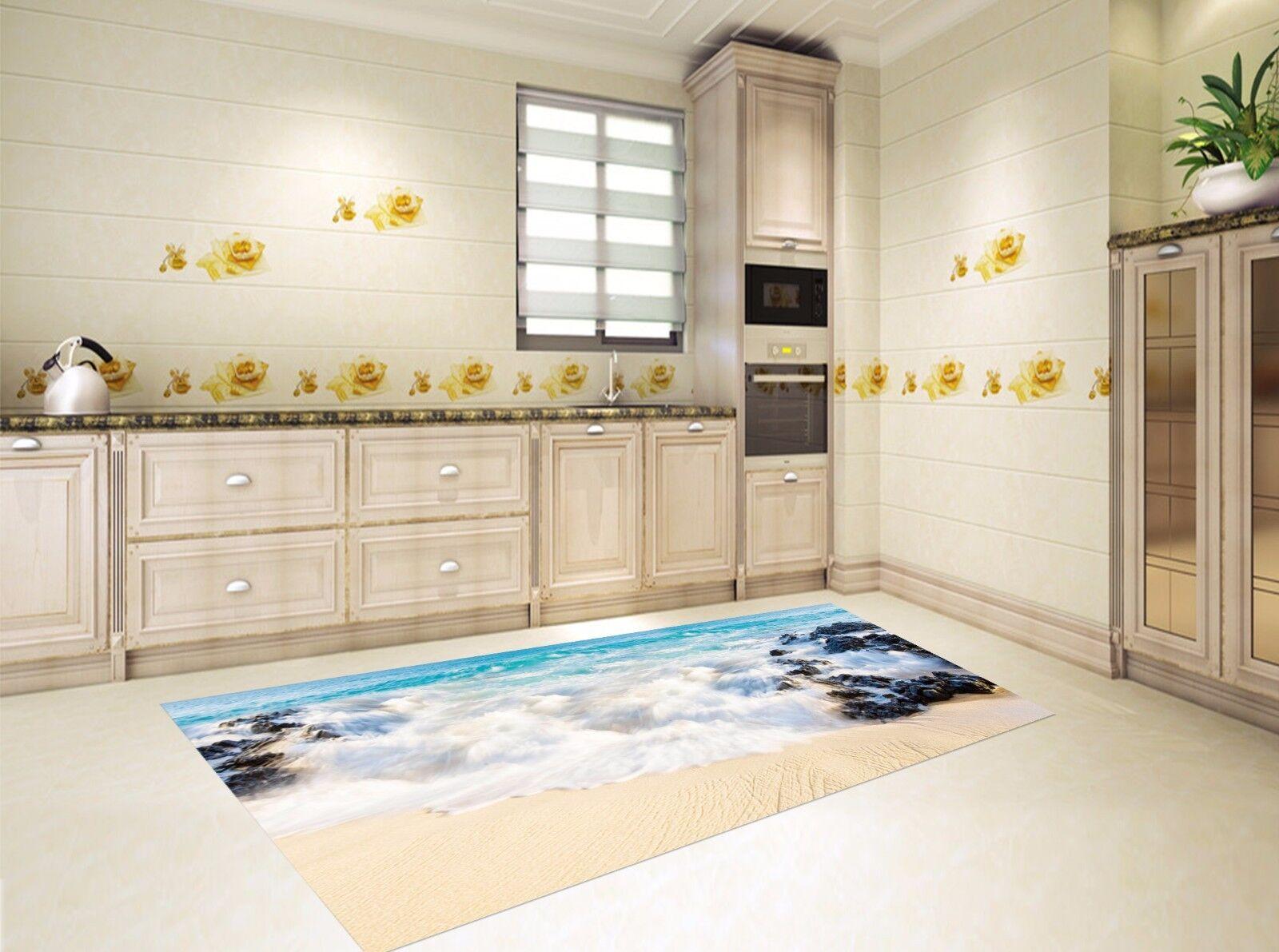 3D Beach Sea 737 Kitchen Mat Floor Murals Wall Print Wall AJ WALLPAPER AU Kyra