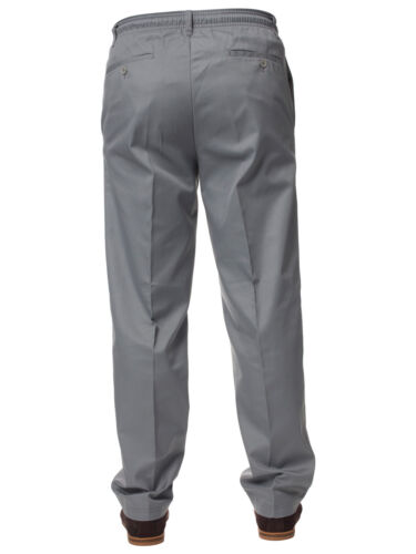 New Mens Carabou Rugby Trousers Elasticated Waist Work Casual Plain Pants 32-60