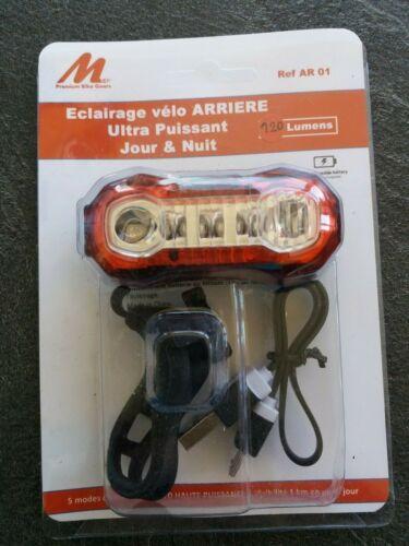 Rear bike light. Eclairage vélo arrière ultra puissant 120 lumens rechargeable