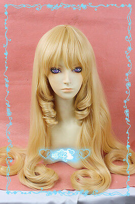 152 Amagi Brilliant Park Ratifa Latifah Fururanza 100cm Blond Wavy Cosplay Wig