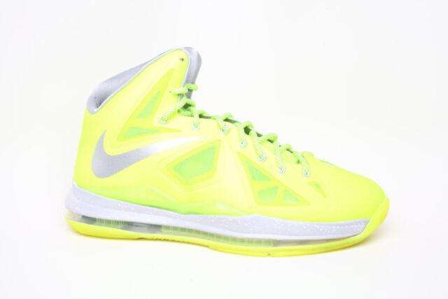 separation shoes 4eff4 a76a8 Nike Lebron X 10 Volt Dunkman Shoes Wolf Grey Pure Platinum Sz 13  (541100-700)