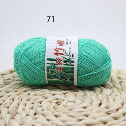 Bambou Coton Chaud Doux Naturel tricot crochet tricot Fil de Laine 50 G Nouveau Hot
