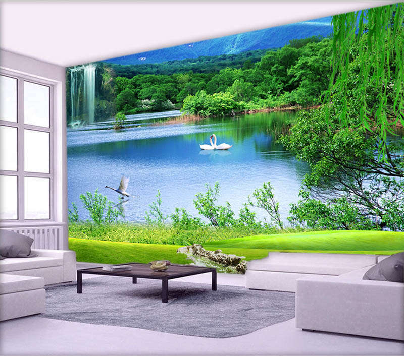 Mysterious Clam Lake 3D Full Wall Mural Photo Wallpaper Printing Home Kids Decor