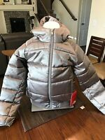 The North Face Girls Hey Mom Bomba Jacket Metallic Silver Size Small