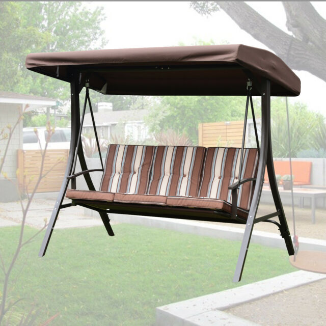 Outdoor 3 Person Patio Gazebo Swing Hammock Chair W Canopy Removable Cushion
