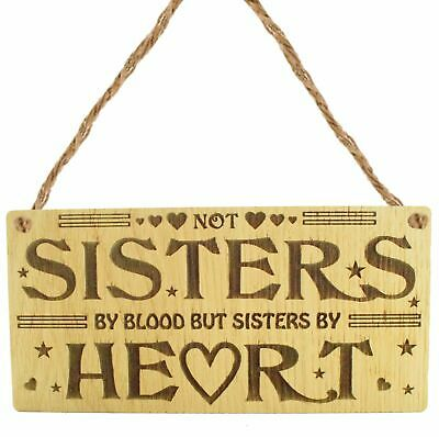 By Heart Shabby Chic Sisters Gift,Wooden Plaque Sisters /& Best friends Sign
