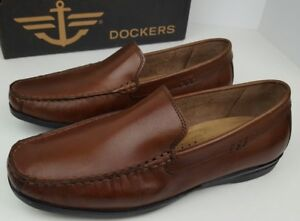 Dockers-Men-039-s-Size-7-5M-Montclair-Ant-Brown-Leather-Moc-Toe-Loafers-090-38007