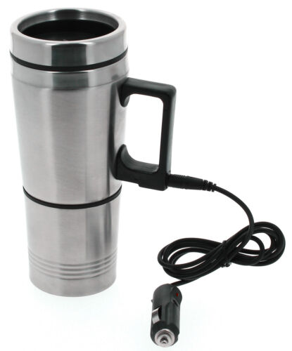 Travel Mug Cup 12V Electric Heated Thermal Thermos In Car Drink Warmer Commute