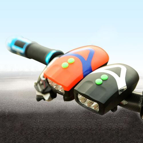 Eg /_ Batterie puissance Bicyclette LED Phares Klaxon Bell Lampe Vélo Accessoire
