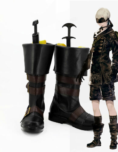 New NieR:Automata Cosplay YoRHa No 9 Type S Shoes Black Shoes Boots