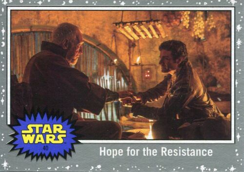 Star Wars The Last Jedi Silver Base Card #40 Hope for the Resistance