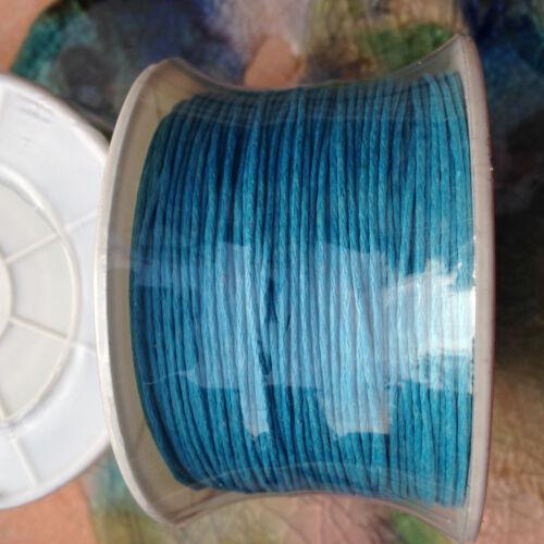 10 M Perlschnur Stick à en Bleu 1 mm glacé Perlfaden bijoux accessoires Chaînes
