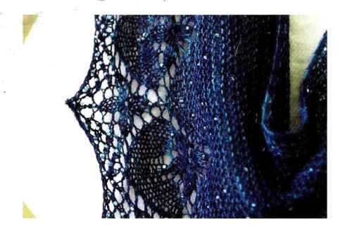 GORGEOUS BEADED LACE CELAENO SHAWL to KNIT in FINGERING WEIGHT YARN ROMI HILL