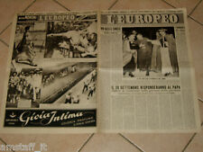 EUROPEO 1947/38=PAPA PIO XII=LUIGI BARZINI=DIANO MARINA=MARCEL CARNE=MARIAMELATO
