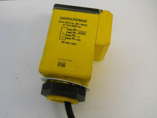 BANNER Q45VR3LPQPMA2D PHOTOELECTRIC SENSOR 12-250VAC//DC EXCELLENT USED CONDITION