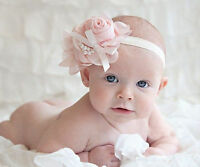 cute baby boy girl lace headbands flowers bonnets hair clips photograph gifts