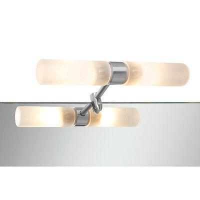 Badlampe Klemmleuchte eisen Glas Spiegellampe Lampe 2 x G9 Badleuchte Leuchte