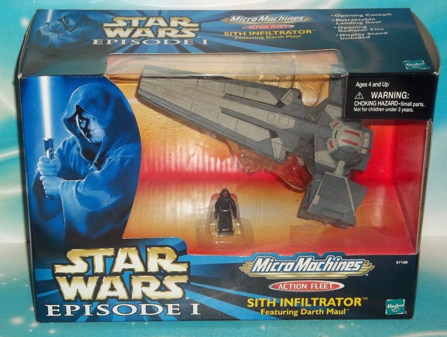Flota de la amenaza fantasma de acción de la guerra de las Galaxias Darth Maul Sith Infiltrator episodio 1