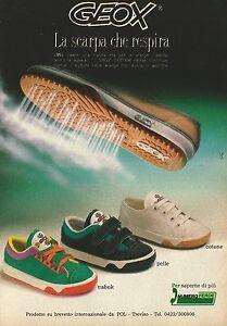 Dettagli su X2715 GEOX la scarpa che respira Pubblicità 1991 Advertising