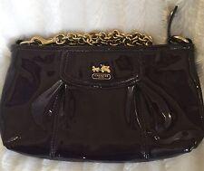 Coach Madison Patent Leather ( Aubergine ) Purple Large Wristlet! Wow! L@@k!!!
