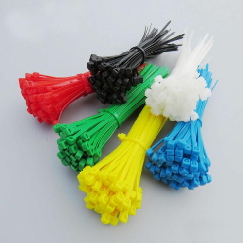 50-1000Pcs 100//200//300mm x 2.5mm Electrical Cable Tie Wrap Nylon Fastening Black