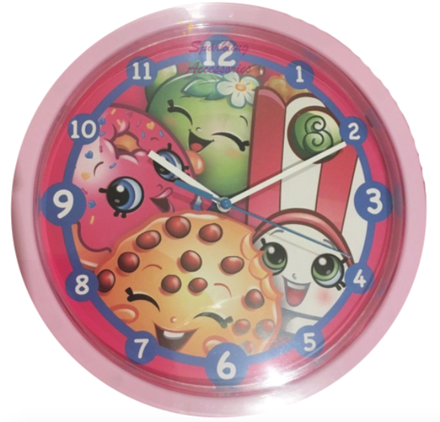 NEW SEALED Shopkins Licensed Print Wall Clock Cute Sweet Decor Kids Girls Gift!