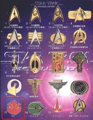 *B1574-17 Furuta Star Trek Pins Collection Japan Anime Maki