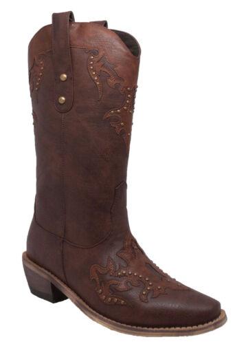 Nouveau Débardeur Adtec Cowboy Western Work Boot équitation Robe Décontractée Boot Brown 8608