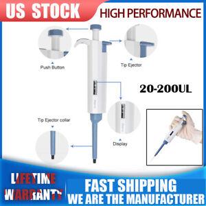 Clean-Single-Channel-Adjustable-Pipetman-20-200ul-Micro-pipet-Pipette-precise