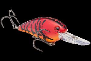 Strike King Crankbait Square Bill DEEP HCKVDS1.5D-450 Delta Red Fishing Lure