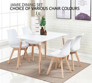 Jamie Dining Set 4 X Jamie Tulip Dining