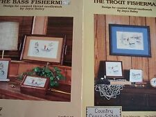 The Bass & Trout Fisherman Cross Stitch PATTERN  Booklet/Leaflet