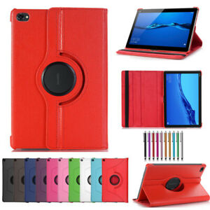 360-Rotating-Shockproof-Leather-Flip-Smart-Case-Cover-For-Huawei-Mediapad-C5-M6
