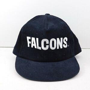 Vintage-90-039-s-Atlanta-Falcons-NFL-Starline-Snapback-Hat-Cap-Black-Spellout-Logo