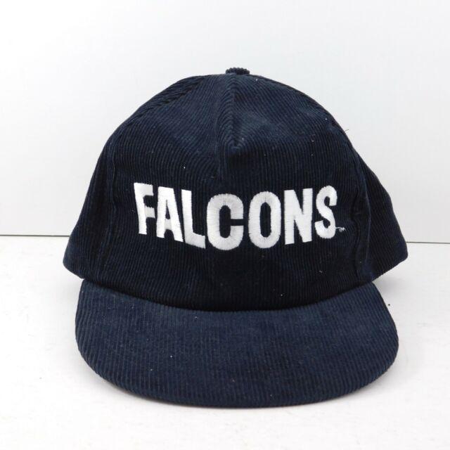 Vintage 90's Atlanta Falcons NFL Starline Snapback Hat Cap Black Spellout Logo