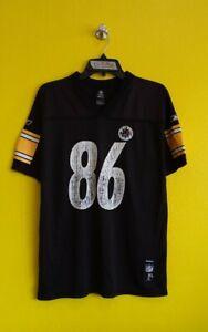 PITTSBURGH STEELERS #86 HINES WARD REEBOK NFL FOOTBALL JERSEY BOYS (XL)