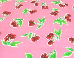 Pink Cherry Stella Retro Style Kitchen Dining Oilcloth