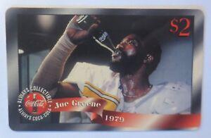 Telefonkarte-USA-Coca-Cola-Joe-Greene-1997-Ungebraucht-Nr-1-5163