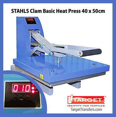 "Heat Press - Stahls Clam Basic Transfer Press 16"" x 20"" (40cm x 50cm) **NEW**"